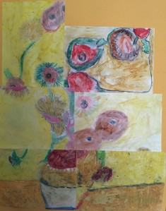 The children's interpretion of Van Gogh's 'Sunflowers'