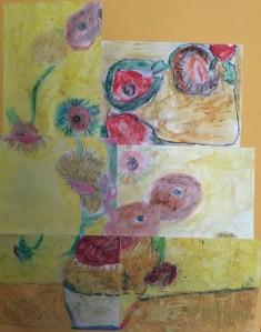 The children's interpretion of Van Gogh's 'Sunflowers'