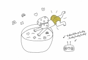 jumping-into-a-bowl-of-lucky-gems-in-a-pair-of-gold-hotpanys-800x549